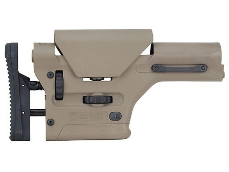MagPul Stock PRS Precision Rifle Adjustable AR-15 Synthetic FDE