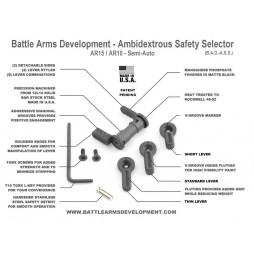 Battle Arms Development - Ambidextrous Safety Selector (BAD-ASS) Cerakote Magpul Flat Dark Earth