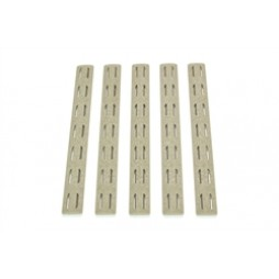 BCM Keymod Rail Panel Kit 5.5 inch FDE (5 pack)