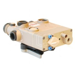 Laser Devices DBAL-I2 Dual Beam Laser, Flat Dark Earth Eye Safe Infrared Laser and Visible Red Laser
