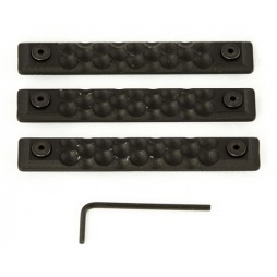 Rail Scales HC5 Long Grip Panel 3 pack BLK Keymod