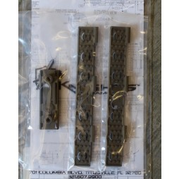 Knights Armament Keymod Wire Management Panel Kit FDE