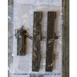 Knights Armament Keymod Wire Management Panel Kit FDE