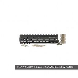 "Geissele 9.5"" Super Modular Rail MK4 MLOK Blk"