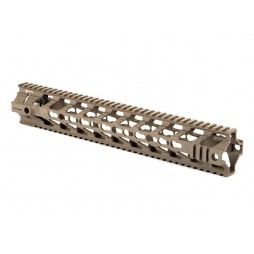 "Fortis REV 14"" Free Float Rail System Cerakote Flat Dark Earth"
